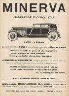 Y0911 Minerva 6 Cilindri Sorprende E Conquista - Pubblicità 1928 - Advertising - Advertising