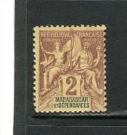 MADAGASCAR - Y&T N° 29** - Type Groupe - Madagascar (1889-1960)