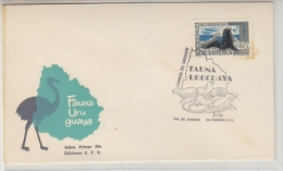 Uruguay 1970 Fauna / Sealion 1v FDC (corner Stamp Brown)(20072) - Uruguay