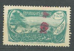Lebanon 1929 Fiscal Revenue Cedar & Landscape Design, 50c  Olive Green - Lebanon