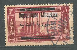 "YA13 Lebanon RARE Postmark: 1928 "" BAALBECK "" GLC Type - Very Nice On 1p Baalbeck République Stamp - Lebanon"