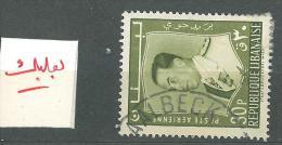 "YA13 Lebanon RARE Postmark: 1960s "" BAALBECK "" Circular Type - 30p President Stamp - Libanon"