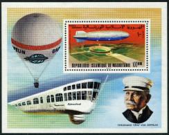 MAURETANIEN / Block MiNr. 15 / LZ 129 über Berliner Olympiastadion / Postfrisch / ** - Mauretanien (1960-...)