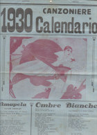 C1685 - CALENDARIO CANZONIERE 1930 Ed.G.Campi/Copertina PIERROT - Calendari