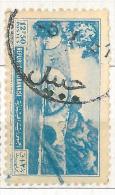 "YA12 Lebanon RARE Postmark: 1950s "" DJOUBAIL "" Circular Type - On 12p50 Stamp NAHR EL KALB - Lebanon"