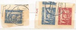 "YA12 Lebanon RARE Postmark: 1962 "" BAABDA "" Circular Type 2- On Pieces - Lebanon"
