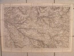 Carte Toilée 118 De Beaupréau, Cholet, Chemillé, De 1860. Lanée Longuet Lestoquoy - Cartes Topographiques