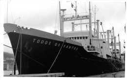 "¤¤  -   Carte-Photo Du Cargo  ""  TODOS OS SANTOS  ""    -  Bateau De Commerce    -  ¤¤ - Commerce"