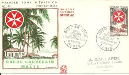 Paris 12 05 1956 Ordre Souverain De Malte - FDC