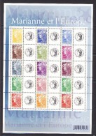 """FEUILLE PERSONNALISEE     """"Marianne De L' Europe""""    CERES    N°F4226A   2008  Côte 50 Euro - France"""