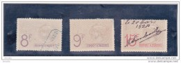 Timbres Fiscaux:402, 404, 407 Cote 17.00 - Revenue Stamps