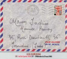 MARIANNE A LA NEF 1959 -25F: LSI En Provenance De ColombBéchar (tarif Du 6/1/1959) - 1959-60 Marianne In Een Sloep