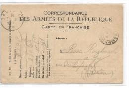 Correspondance Des Armées De La Republique Carte En Franchise Expédiée Par Un Légionnaire   A GY-HAUTE SAONE - Frankreich
