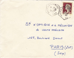 Hyères Marine Var 1964 - Hexagonal Agence Poste Navale - Marianne Decaris YT 1263 - Seepost