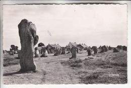 CARNAC 56 - Les Alignements De Menhirs Du Ménec - CPSM Dentelée Noir Blanc PF 1955 - Morbihan - Carnac