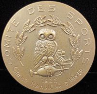 M01850 COMITE DES SPORTS - GRAN HANDICAP D'HIVER - UNIVERSITE LIBRE DE BRUXELLES 1955 (27.1g) Chouette - Owl Au Revers - Belgium
