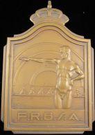 M01853 AVIRON - F.R.B.S.A. - CHAMPIONNATS DE BELGIQUE - 1935 (116.9g) Blason Au Revers - Other