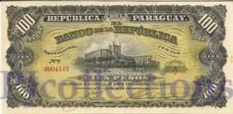 PARAGUAY 100 PESOS  ORO 1907 PICK 159 UNC - Paraguay