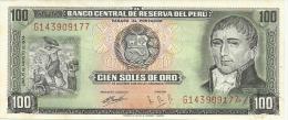 PERU' 100 SOLES ORO 1974 PICK 102c AU/UNC - Pérou