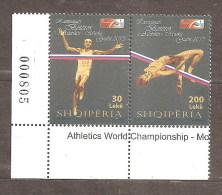 ALBANIA 2013 ATHLETICS WORLD CHAMPIONSHIPS MOSCOW SET MNH - Albania