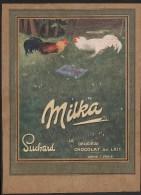 Pub 1914 Alimentation Chocolat Suchard Milka Combat Coq - Advertising
