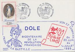Carte  Bicentenaire  De  La   REVOLUTION    DOLE    1989 - Révolution Française