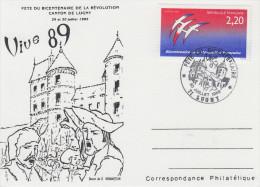 Carte  Bicentenaire  De  La   REVOLUTION    LUGNY  1989 - Révolution Française