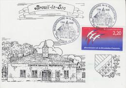 Carte  Bicentenaire  De  La   REVOLUTION      BREUIL  LE  SEC  1989 - Révolution Française