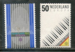 Netherlands 1985 Europa Music Piano Keyboard Organ Pipe Sc 669-70 MNH # 35 - Musique