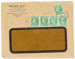 LGM FRANCE - MAZELIN 2f X5 MARSEILLE 8/11/1948 TARIF DU 21/9/1948 - 1945-47 Cérès De Mazelin