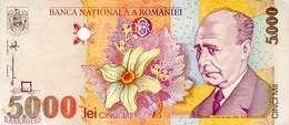 ROMANIA 5000 LEI 1998 PICK 107 UNC - Rumania