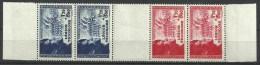 FRANKRIJK 565/566 STRIP  Xx ( YVERT ) COTE : 55 EURO - France