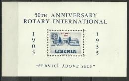 Liberia, Rotary Club, Block 8, Postfrisch, 1955 - Rotary Club