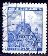 BOHEMIA & MORAVIA 1940 Brno Cathedral - 2k.50 - Blue   FU - Bohemia & Moravia