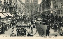 CPA 45 ORLEANS FETES DE JEANNE D ARC 1909 LE CORTEGE MUNICIPAL ET RELIGIEUX CROIX DU CHAPITRE - Orleans