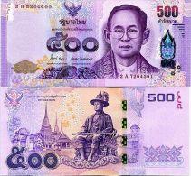 THAILAND 500 BAHT 2014 P 125 NEW DESIGN UNC - Thailand