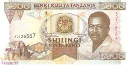 TANZANIA 5000 SHILINGI 1995 PICK 28 UNC - Tanzanie