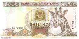 TANZANIA 5000 SHILINGI 1997 PICK 32 UNC - Tanzania