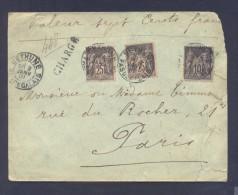 PAS DE CALAIS 62 BETHUNE LSC Tad Type 84 Du 02/01/1901 Sur N° 97 X 2 + 89  10 Et  25 C Sage CHARGE VD 700 TB - Marcophilie (Lettres)