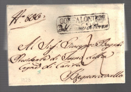 ITALIE 1823 Marque Postale Du Gonfalonier De Fermo Pour Bagnacavallo - Italia