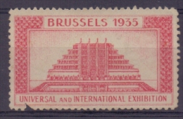 BELGIË/BELGIQUE :1935: VIGNETTE/CINDERELLA ## BRUSSELS 1935– UNIVERSAL And INTERNATIONALE EXHIBITION ## : - 1935 – Brüssel (Belgien)