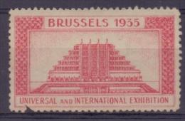 BELGIË/BELGIQUE :1935: VIGNETTE/CINDERELLA ## BRUSSELS 1935– UNIVERSAL And INTERNATIONALE EXHIBITION ## : - 1935 – Brussels (Belgium)