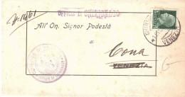 COMUNE DI VENEZIA UFFICIO DI CHIRIGNAGO - 1900-44 Vittorio Emanuele III