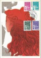 Carte Maximum 1997 - Marianne Du 14 Juillet 97 PARIS - Maximumkaarten