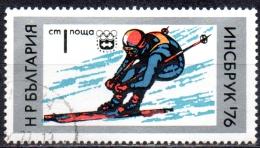 BULGARIA 1976 Winter Olympic Games, Innsbruck - 1s Skiing  FU - Bulgarien