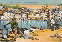 20 - Bastia - Eglise St-Jean Et Vieux Port (animée, Colorisée) - Bastia