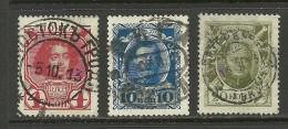 RUSSLAND RUSSIA 1913 Romanov Michel 85 & 87 & 90 Gut Gestempelt - 1857-1916 Imperium