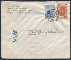 China Taiwan Taipei Soochow University Cover - Bishop Raines, Indianapolis USA - 1945-... Republic Of China