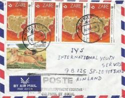 Zaire Congo 1986 Bukavu & POSTE/ Developpement Economique Culturel Et Social Handstamp Cover - 1980-89: Afgestempeld