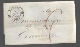 FRANCE 1834 Marque Postale Taxée De Marans - Marcophilie (Lettres)